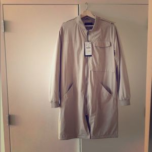 BRAND NEW Zara Long Bomber Jacket